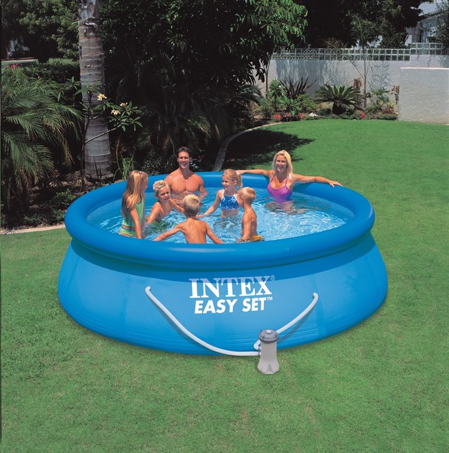 e fr dl intex piscine easy set diametre  m