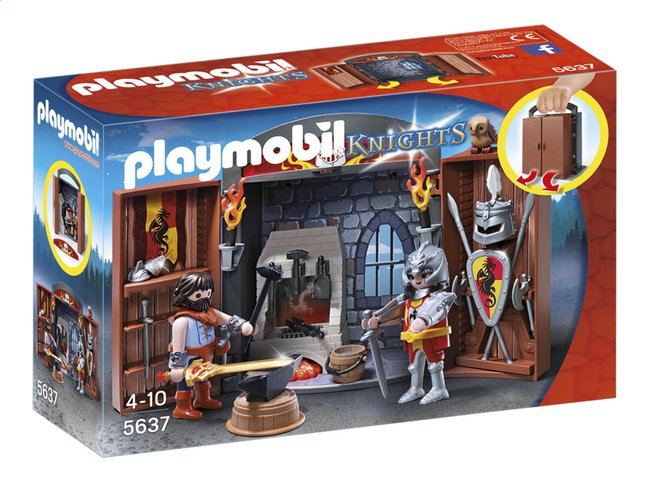 playmobil chevalier forge