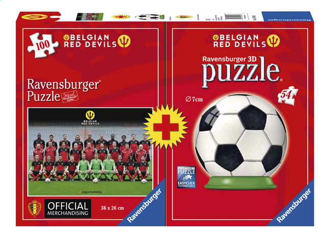 Afbeelding van Ravensburger puzzel Belgian Red Devils Team + puzzleball from DreamLand