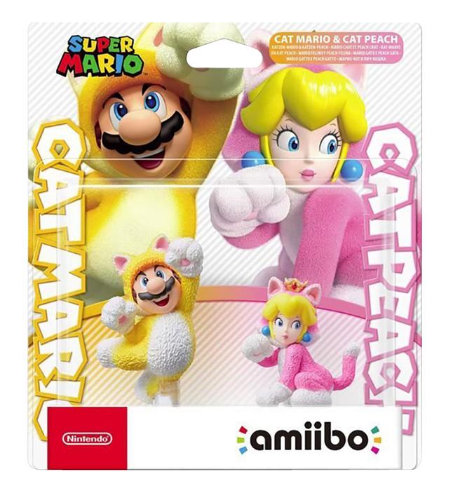 Nintendo figuur amiibo Cat Mario en Cat Peach