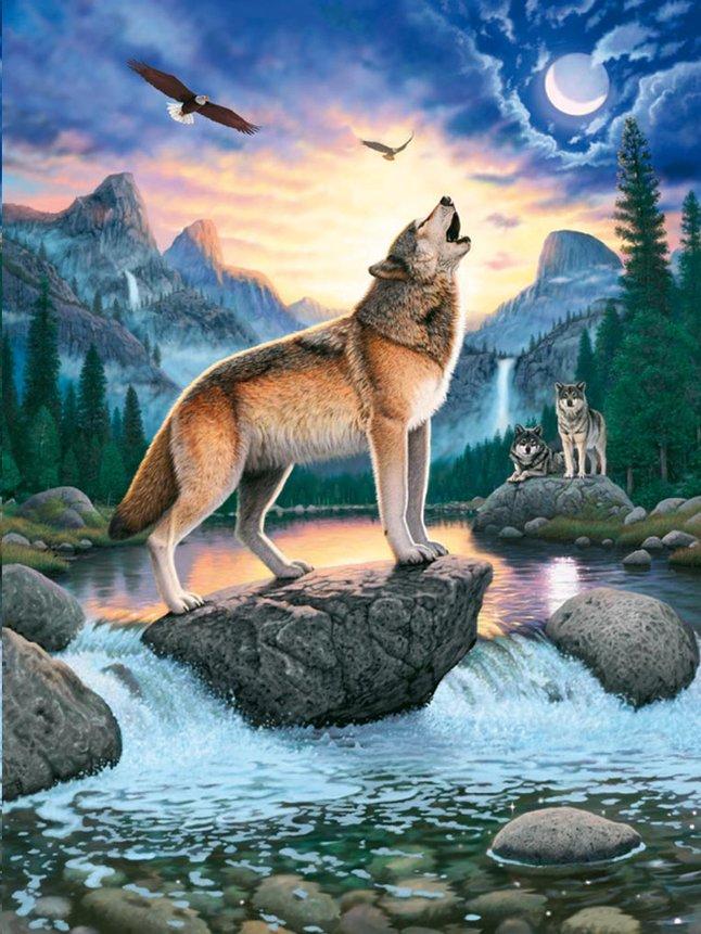 Afbeelding van Ravensburger puzzel Het huilen van de wolf from DreamLand