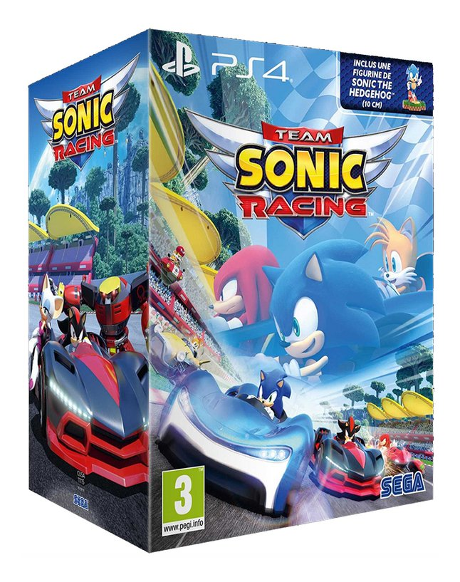 Afbeelding van PS4 Team Sonic Racing + Figuur Sonic The Hedgehog ENG/FR from DreamLand