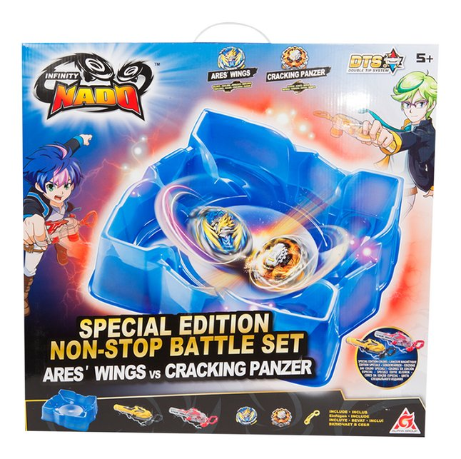 Infinity Nado Special Edition Non-Stop Battle Set Ares'Wings vs Cracking Panzer