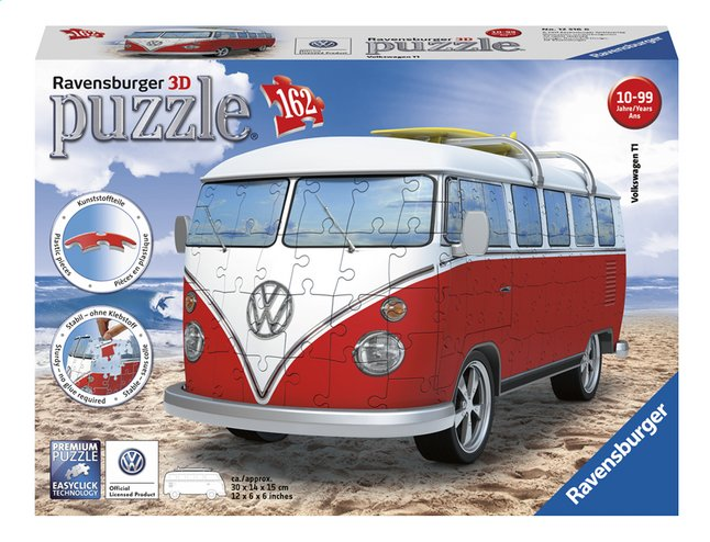Afbeelding van Ravensburger 3D-puzzel VW Bus (T1 bully) from DreamLand