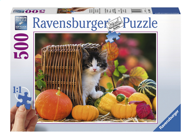 Afbeelding van Ravensburger XXL puzzel Katje in de herfst from DreamLand