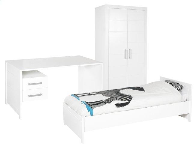 Afbeelding van 3-delige kamer Marika met kleerkast met 2 deuren from DreamLand