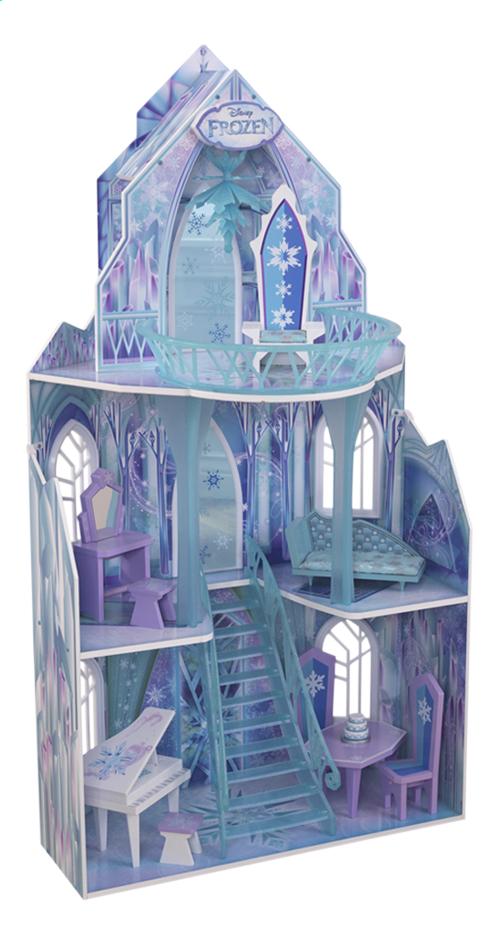 maison de poup es en bois disney la reine des neiges le ch teau de glace avec meubles dreamland. Black Bedroom Furniture Sets. Home Design Ideas
