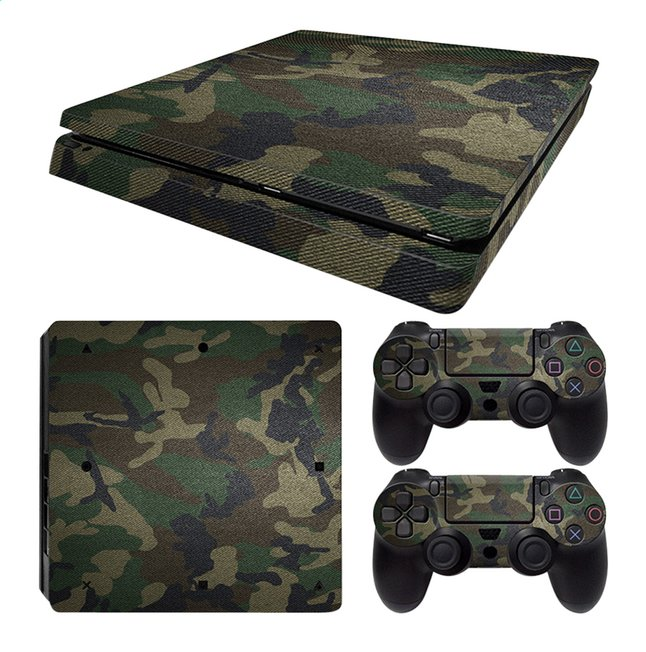 Afbeelding van PS4 Slim console skin + 2 controllers skins Army Camouflage from DreamLand