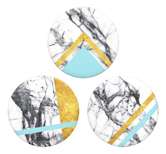 Afbeelding van PopSockets Phone grip Popminis White Marble 3st from DreamLand