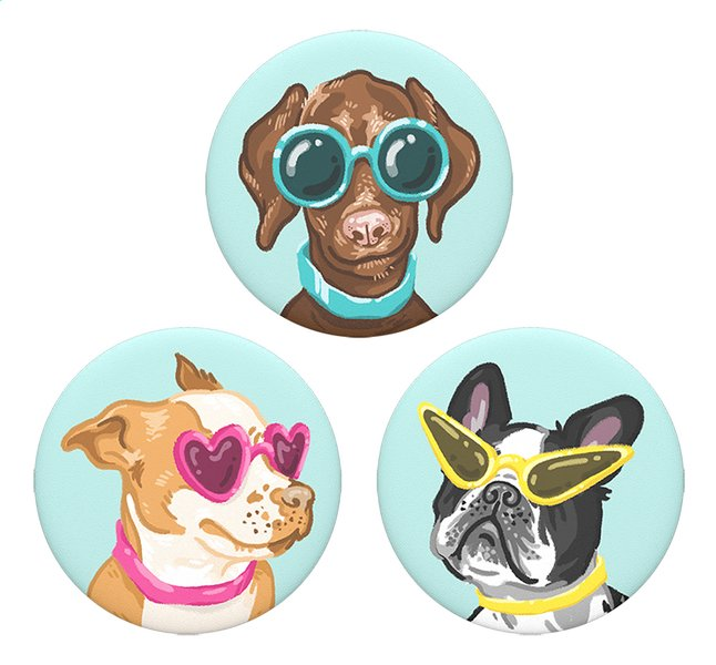 Afbeelding van PopSockets Phone grip Popminis Posh Pups 3st from DreamLand