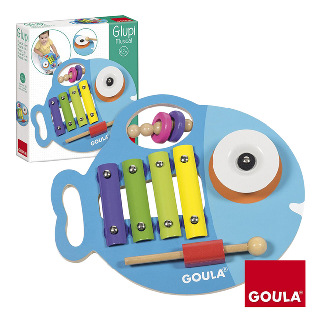 Afbeelding van Goula Xylofoon Glupi musical 3-in-1 from DreamLand