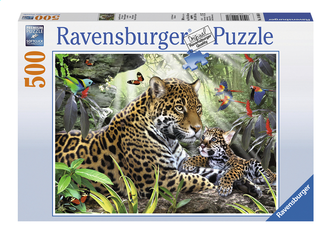 Image pour Ravensburger puzzle Jaguar et son petit à partir de DreamLand