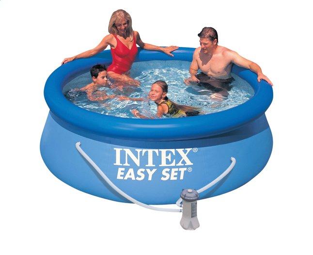 e fr dl  intex piscine easy set diametre m h cm