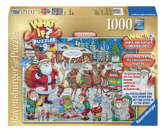 Afbeelding van Ravensburger puzzel What if? Santa & Rudolph from DreamLand