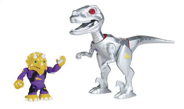 Afbeelding van Teenage Mutant Ninja Turtles Half Shell-Heroes robo Raptor & Triceraton from DreamLand