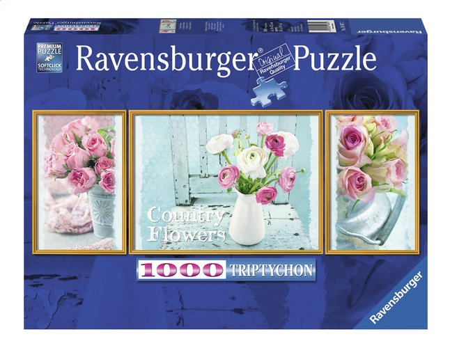 Afbeelding van Ravensburger puzzel Triptychon Country Flowers from DreamLand