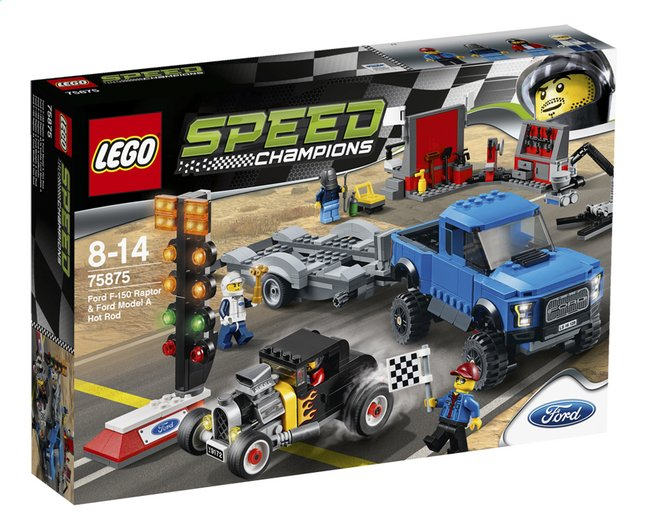 Afbeelding van LEGO Speed Champions 75875 Ford F-150 Raptor & Ford Model A Hot Rod from DreamLand