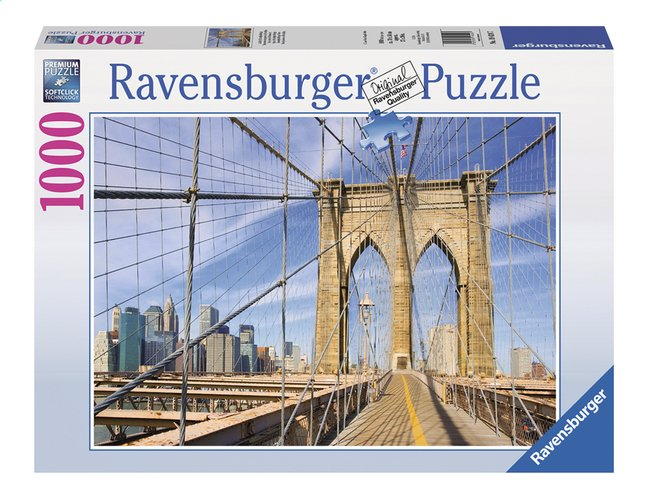 Afbeelding van Ravensburger puzzel Op de Brooklyn Bridge from DreamLand
