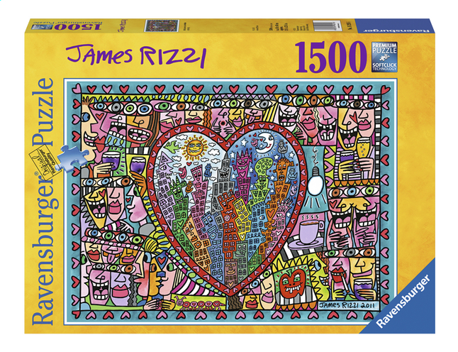 Afbeelding van Ravensburger puzzel James Rizzi All that love from DreamLand