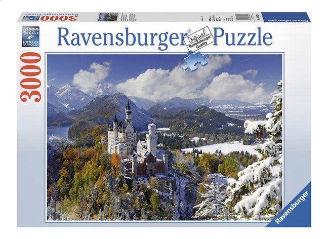 Afbeelding van Ravensburger puzzel Slot Neuschwanstein in de winter from DreamLand