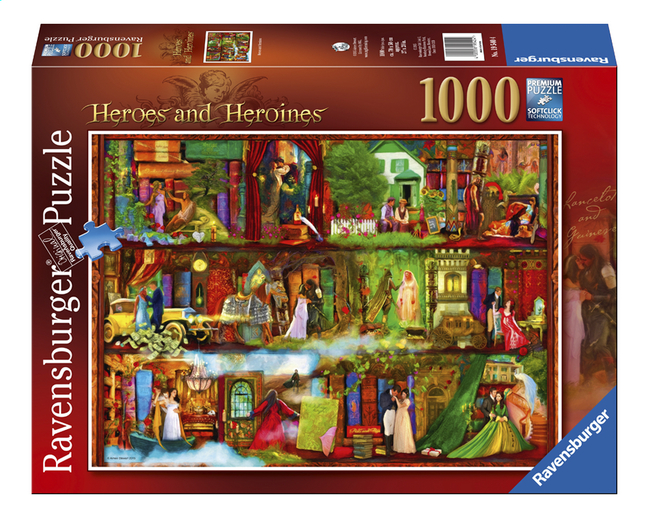 Afbeelding van Ravensburger puzzel Heroes and Heroines from DreamLand