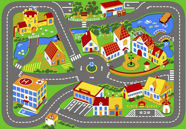 Image pour Tapis de circulation Quiet Town 95 x 133 cm à partir de DreamLand
