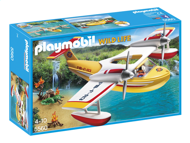 Afbeelding van Playmobil Wild Life 5560 Brandblusvliegtuig from DreamLand