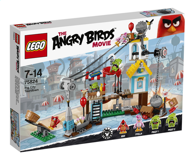 Afbeelding van LEGO Angry Birds 75824 Pig City Teardown from DreamLand