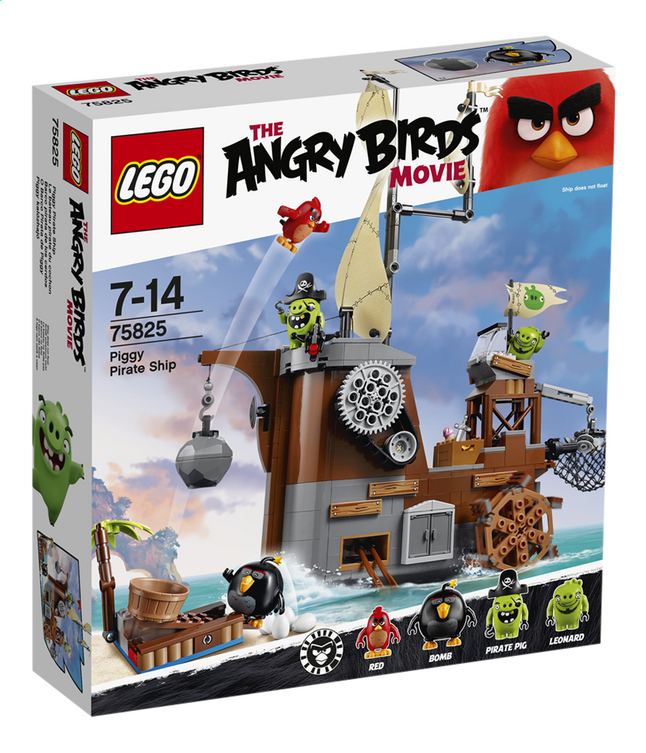 Afbeelding van LEGO Angry Birds 75825 Piggy Pirate Ship from DreamLand