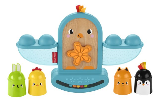 Fisher-Price stapelblokken/evenwichtsspel Stack and Rattle Birdie