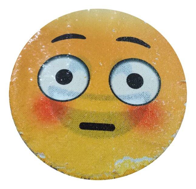 Afbeelding van Emoji Kussen pailletten innocent/laughing from DreamLand