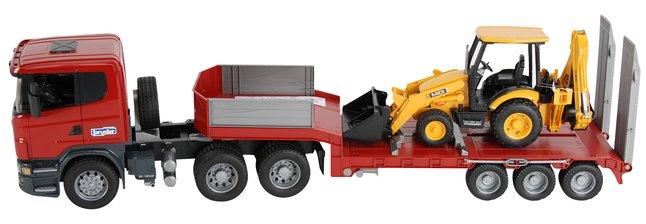 Afbeelding van Bruder vrachtwagen Scania met JCB baggerlader from DreamLand