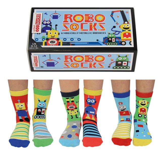 Afbeelding van United Odd Socks Robo Socks 6 sokken maat 27-30 from DreamLand